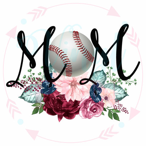 Baseball Floral Mom-Digital Download