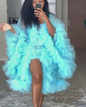 Load and play video in Gallery viewer, Custom made mini Tulle Robe