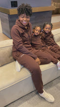 Load and play video in Gallery viewer, Chocolate Kids Unisex Luxe Leisure sweat set