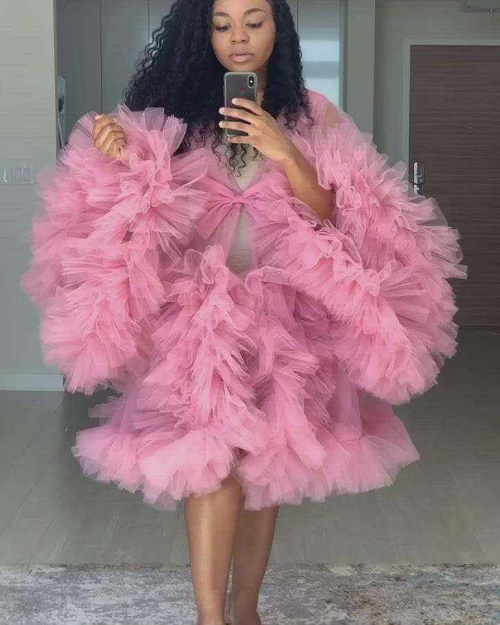 Custom made mini Tulle Robe