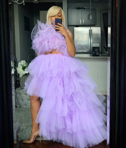 Custom made Orchid tulle Skirt