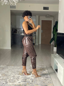 """Chocolate is the New Black"" High Waisted Cargo Pants"