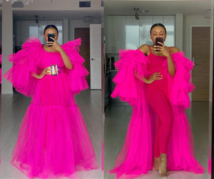 Custom made Hot Pink Sheer Look