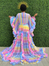 Load image into Gallery viewer, Candy Rainbow Tulle Robe