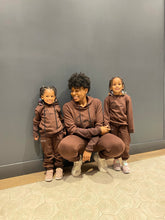 Load image into Gallery viewer, Chocolate Kids Unisex Luxe Leisure sweat set