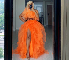 Load image into Gallery viewer, Custom made Hi-Slit tulle Skirt