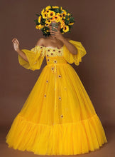 Load image into Gallery viewer, Custom made Sunflower Garden dress