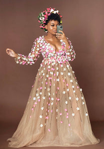 Custom made Blossom Garden dress