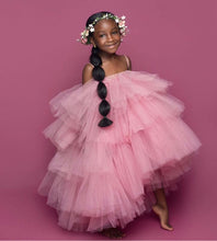 Custom made orchid dress kids