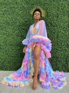 Candy Rainbow Tulle Robe
