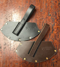 Race Axe/ Knockabout Axe Cover Sheath .Available in Natural , Brown or Black Leather