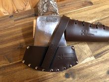 Axe cover Leather designed for vintage axes . Available in brown or black. Mid Size