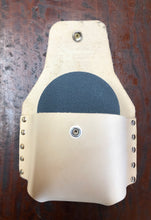 Axe Knife stone leather pouch including large stone Natural, Black or Brown Available