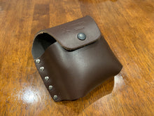 Axe Knife stone leather pouch including large stone Black or Brown Available