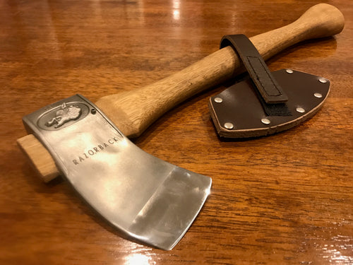 Poisoning Axe Handcrafted spotted gum handle and leather cover