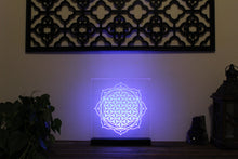 Laser Etched Light Piece: Flower of Life