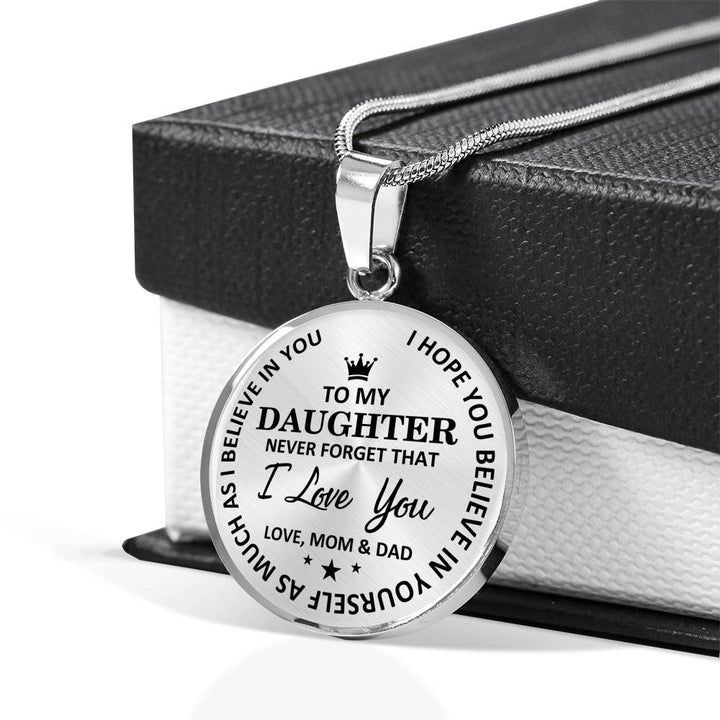Mom & Dad To Daughter - Believe In Yourself Luxury Necklace