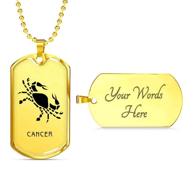 Zodiac Cancer Dog Tag