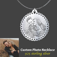 Custom Photo Pendant Necklace (925 Sterling Silver)
