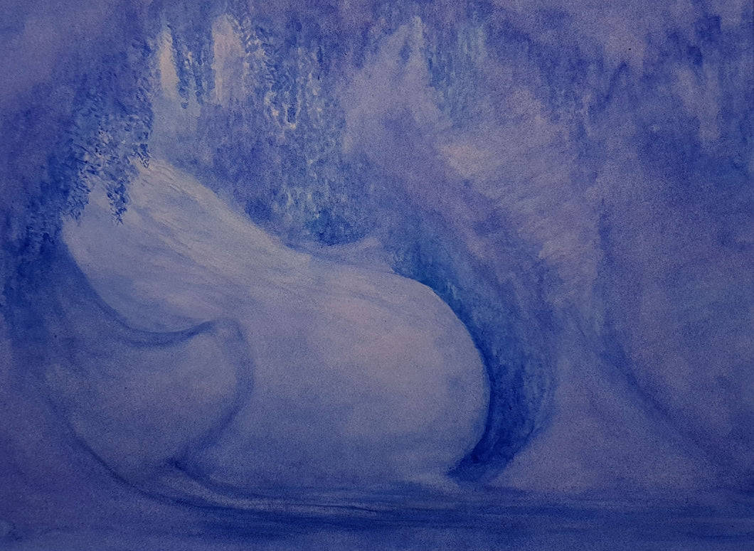 Ice Cave Original water color painting by David Rosenthal