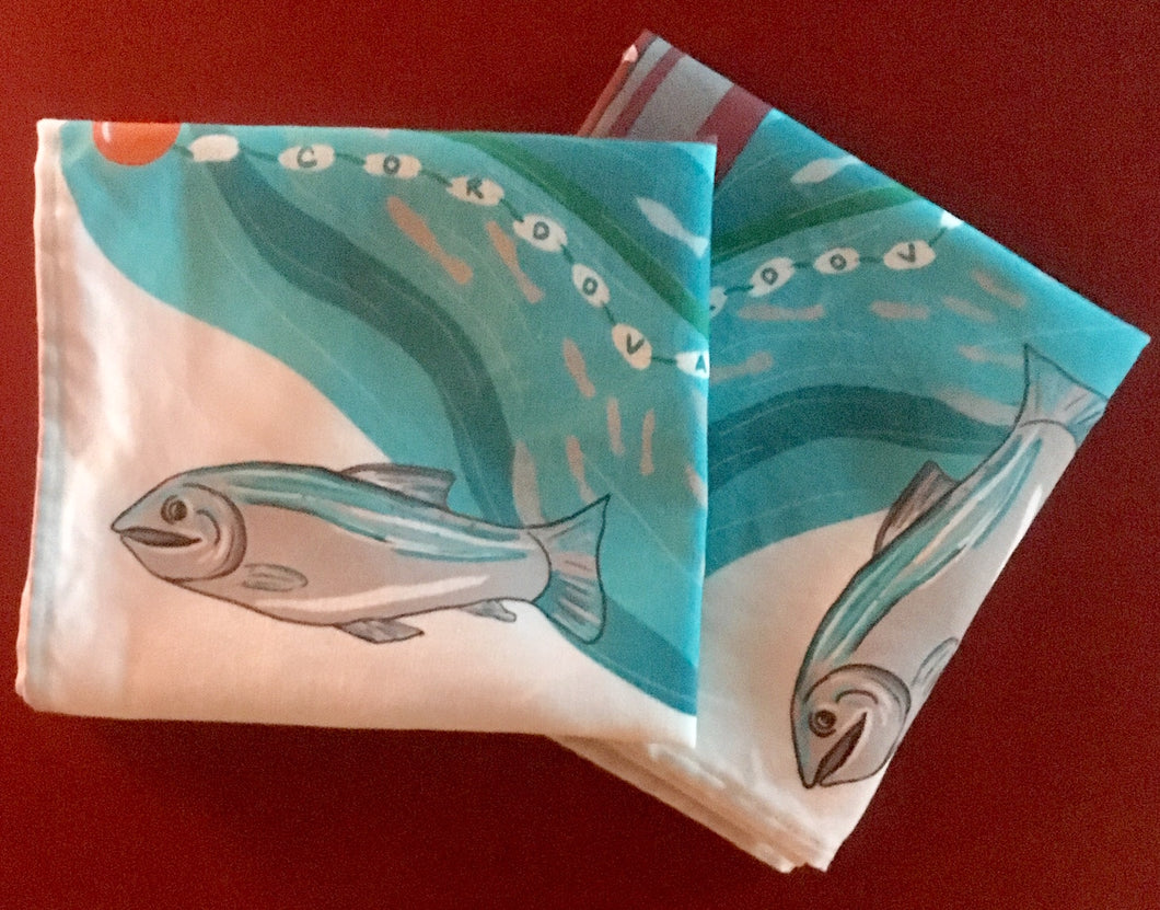 Bow-picker-Cordova-alaska-tea-towel