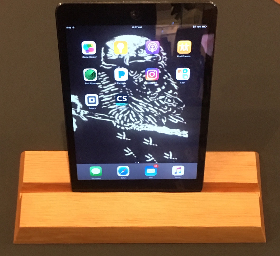 Wood Device Stand