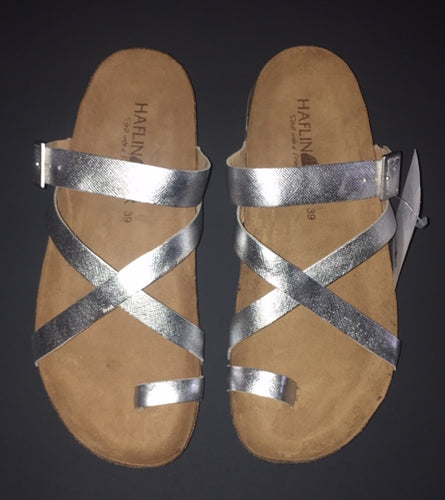 Women's Haflinger Silver Sandals