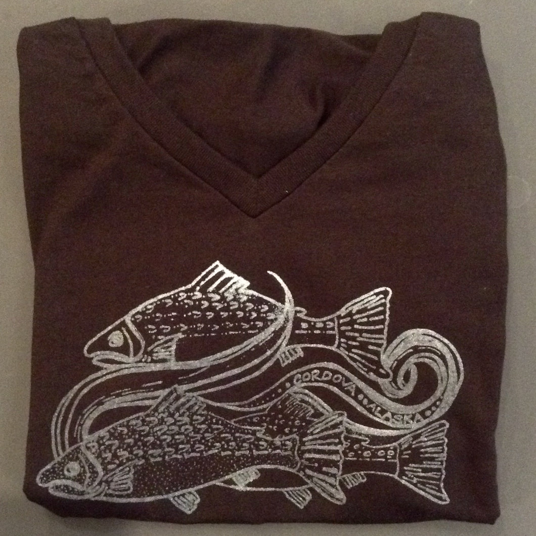 Swimming Salmon T - Shirt