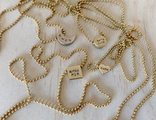 Mama-centric Stamped Ball Chain Chokers