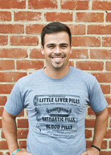 Pill Box T-Shirt (Grey), printed on American Apparel