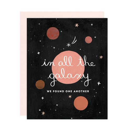 Greeting Card--In All the Galaxy by: Girl w/Knife