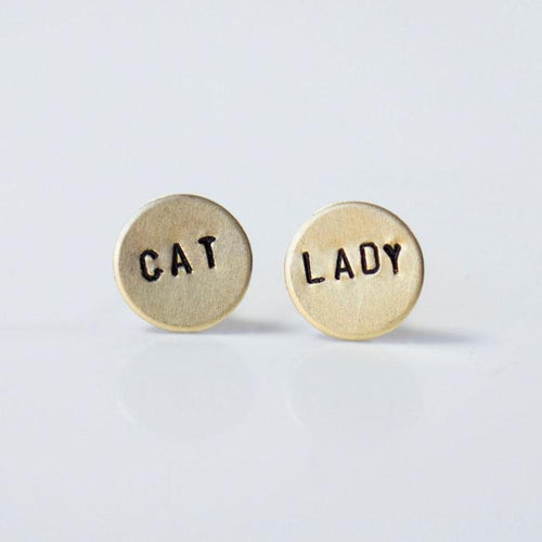 CAT LADY Circle Earrings