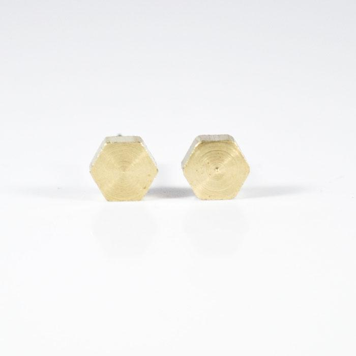 Hexagon Earrings, Chunky