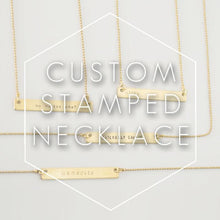 Custom Hand Stamped Bar Necklace