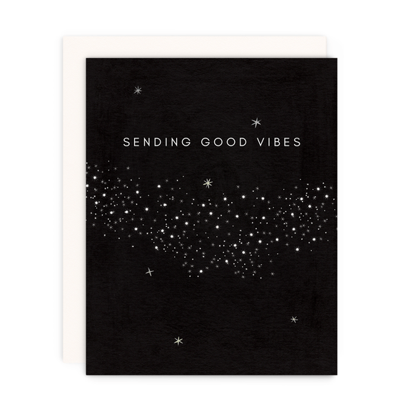 Greeting Card--Sending Good Vibes by: Girl w/Knife