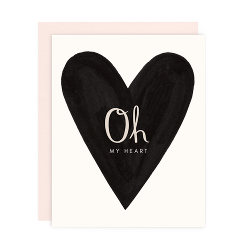Greeting Card--Oh my Heart by: Girl w/Knife