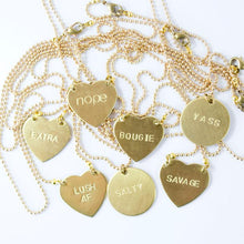 SAVAGE Hand Stamped Necklaces
