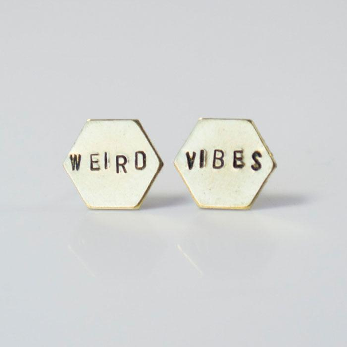 WEIRD VIBES, Hexagon Earrings