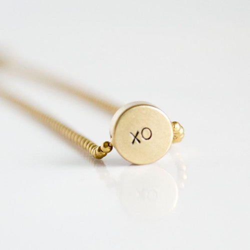 xo, Hand-Stamped Choker Necklace