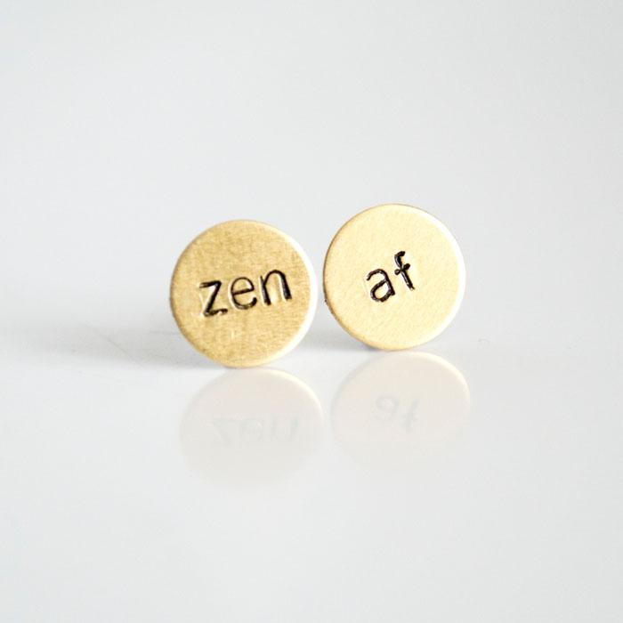zen af Circle Earrings