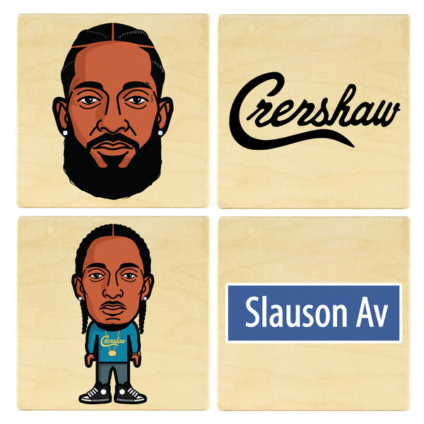 Nip Hussle Coaster Set
