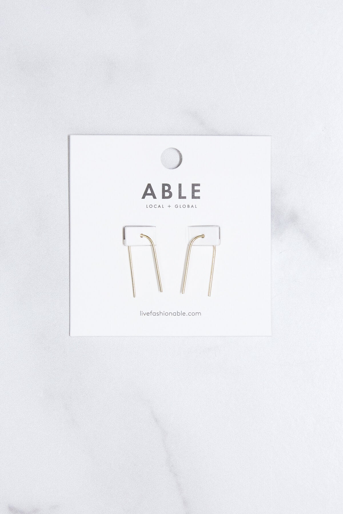 ABLE Arch Gold Earrings