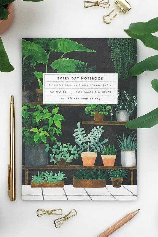 All The Ways To Say Plant Shop Notebook