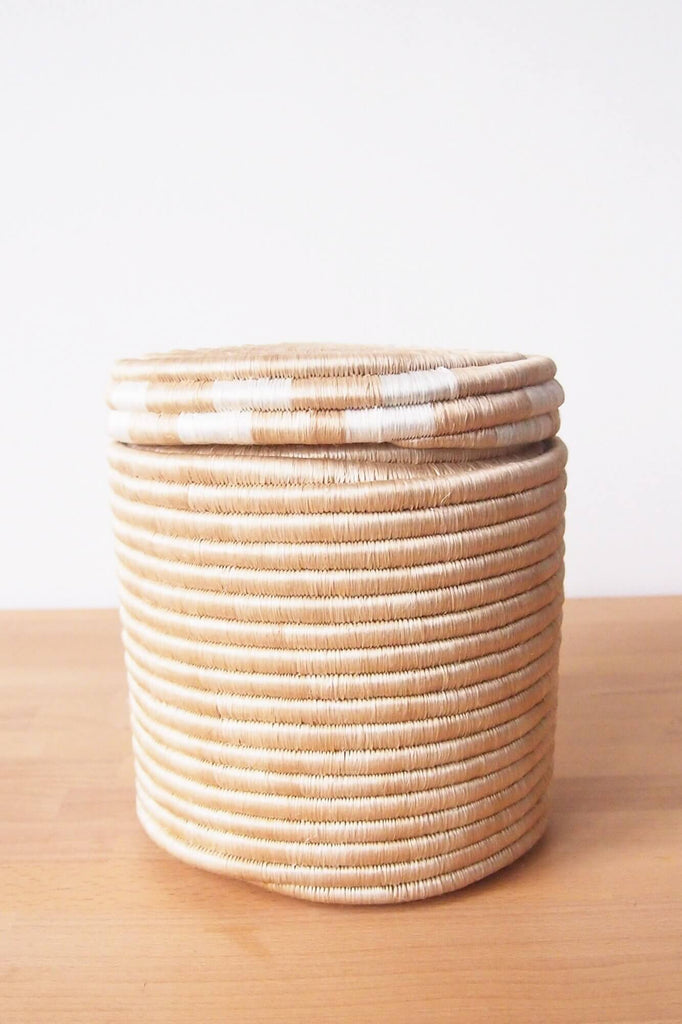 White Canister Basket