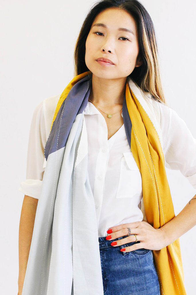 Anchal Project Asha Colorblock Straight Scarf