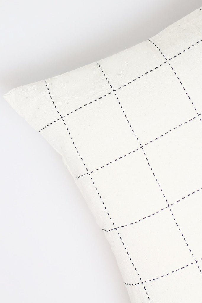 Bone Grid Stitch Accent Pillow
