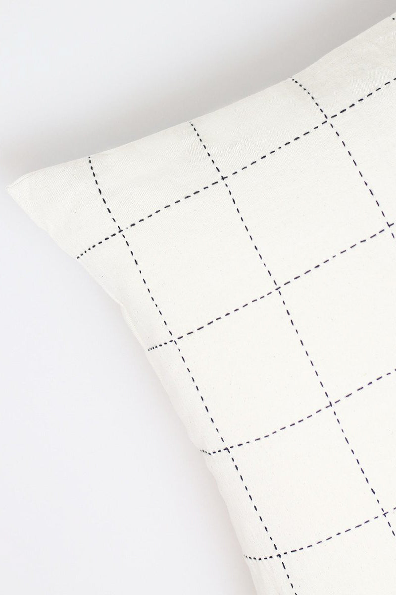 Anchal Project Bone Grid Stitch Accent Pillow
