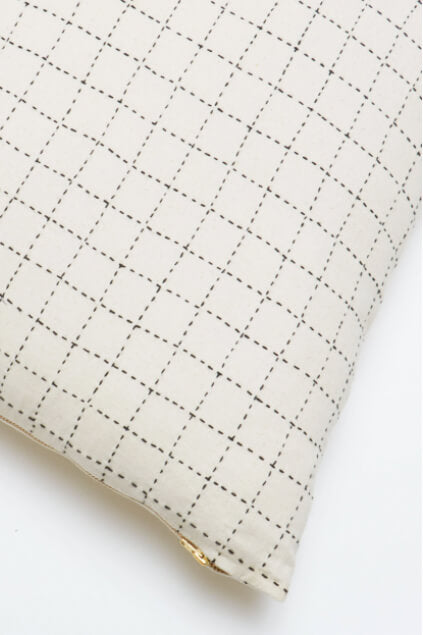 Anchal Project Mini Grid-Stitch Throw Pillow