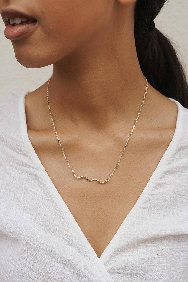 Baleen Squiggle Necklace