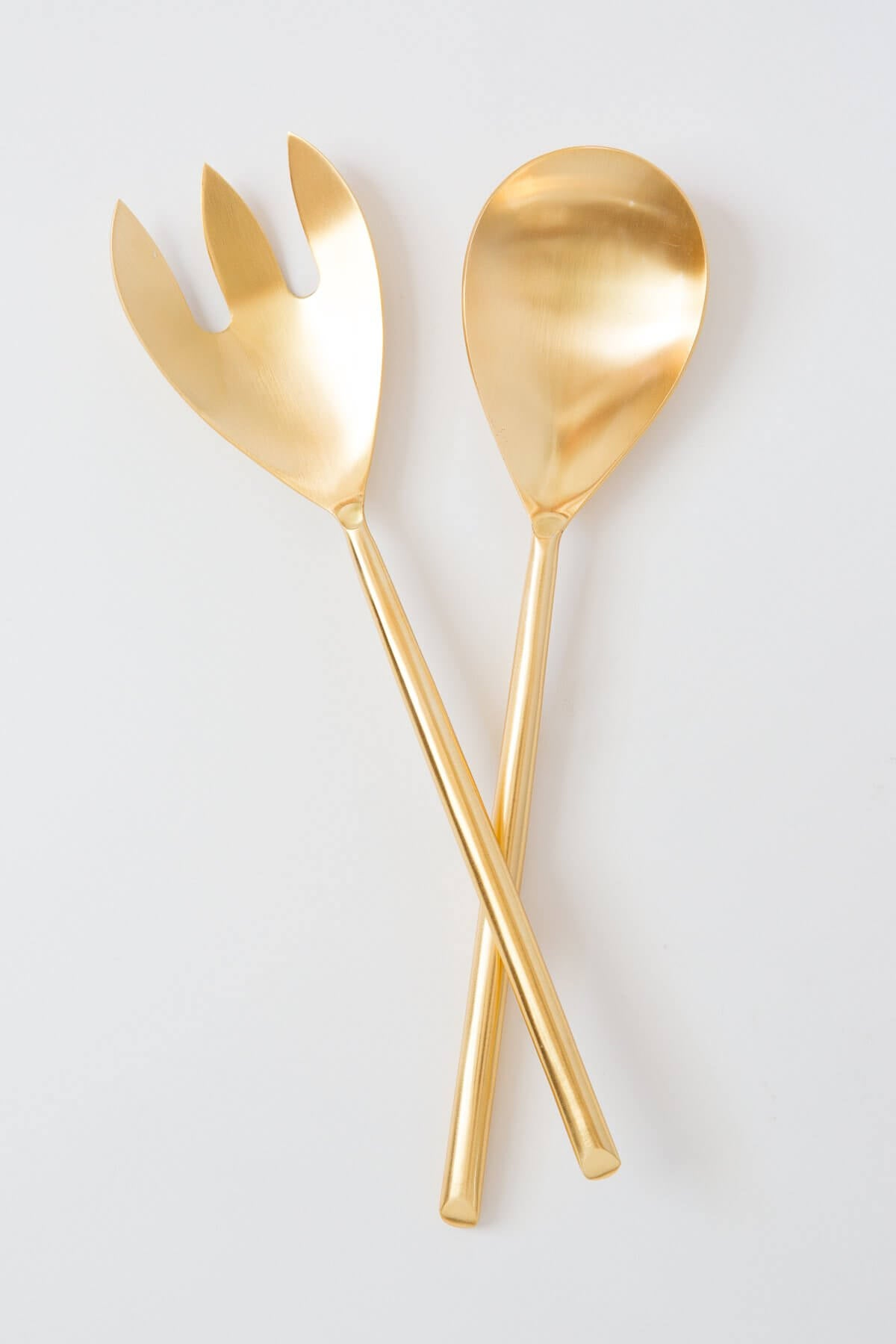 Be Home Matte Gold Salad Server Set